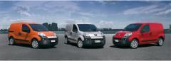 Fiat Fiorino, Peugeot Bipper und Citroen Nemo (v.l.n.r.)